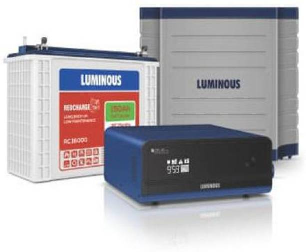 LUMINOUS Zelio 1100 + Rc18000 Tall Tubular Battery+ Trolley Tubular Inverter Battery