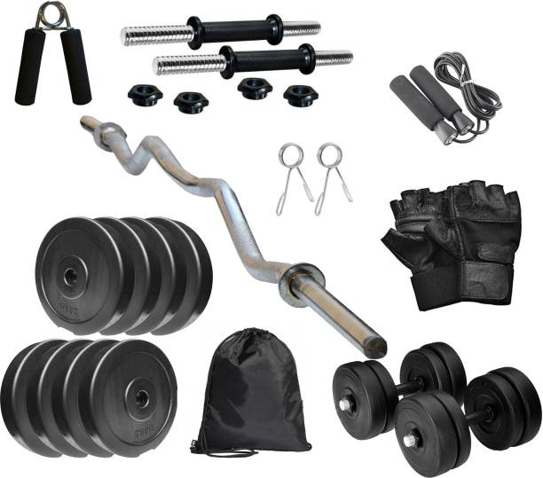 Up Growth 8 kg PVC COMBO 3 -SL Home Gym Combo Gym & Fitness Kit