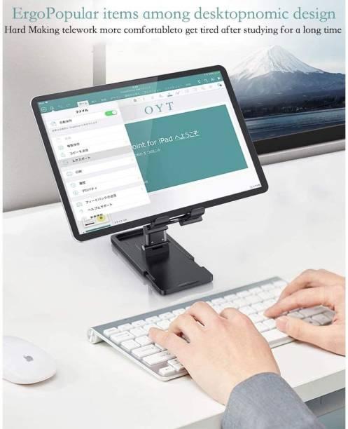 ROYAL SCOT GREY Adjustable Cell Phone Holder Foldable Tablet Stand Mobile Phone Mount for Desk Compatible with All Smartphones Mobile Holder