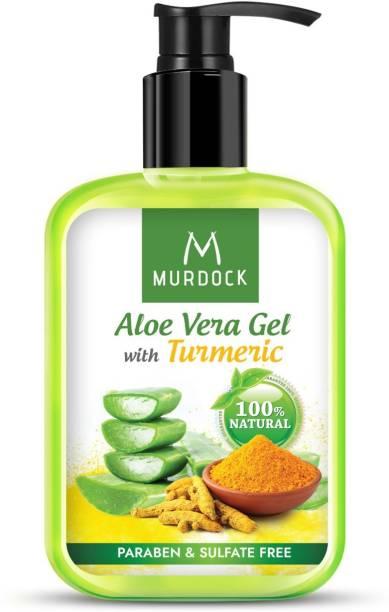 MURDOCK 100% Pure Aloe Vera gel with Turmeric for Skin, hair & body, Pure Glowing Skin 250 ml