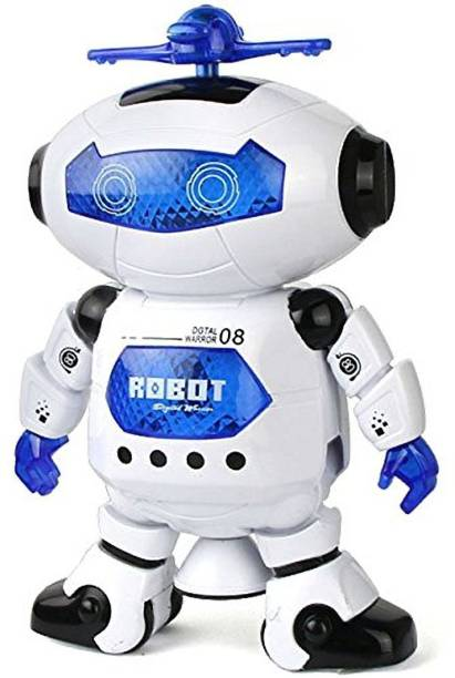 VikriDa Best Musical and Naugty Dancing Robot, White/Blue