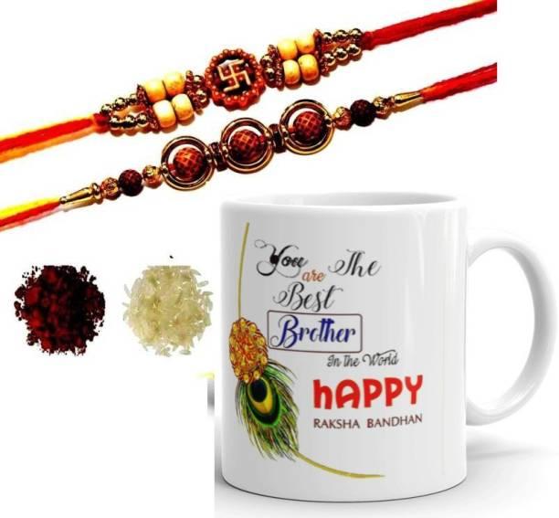 RHYTHM GIFT4U Rakhi, Mug  Set