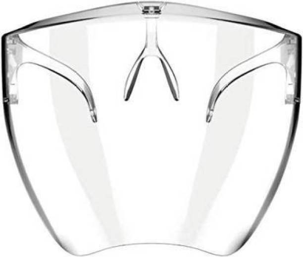 Sundry google003 EYO Face Shield to Cover Mouth, Nose & Eyes Full Face Protection from Virus without Covering you face Reusable Comfortable Stylish Design Can Wear with Eye Glasses Also Safety Visor