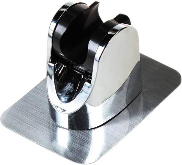 Kemendra Adjustable Self-Adhesive Handheld Suction Up Chrome Polished Shower Head Holder (1pc/Set) Shower Head