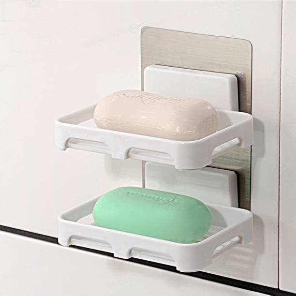 HOUSE OF VIPA SHOP Wall Mounted soap Dish Holder Wall Hanging Soap Storage Rack for Kitchen Bathroom-with Self Adhesive Magic Sticker