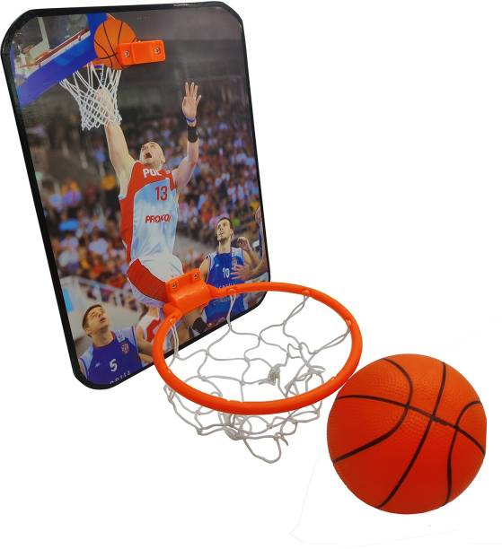 Miss & Chief Mini Basketball Hoop Set for Kids Playing Indoor Outdoor Hanging Basket Ball Set Best Gift for Boys and Girls Basketball