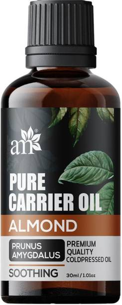 aromamusk Cold Pressed Sweet Almond Oil - Soothing - Prunus Amygdalus Pure Carrier Oil