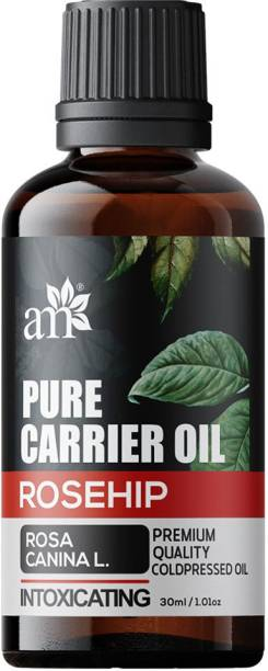aromamusk Organic & Cold Pressed Rosehip Oil - Intoxicating - Rosa Canina Pure Carrier Oil