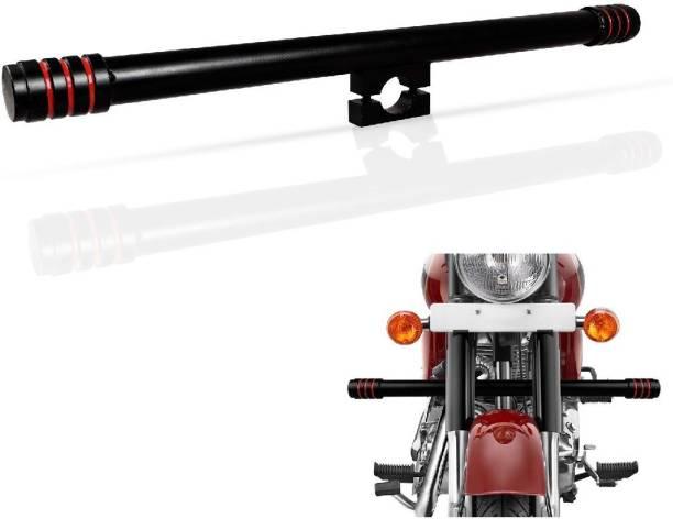 Bullkartzone Black & Red Leg Guard Crash Safety Single Rod/Bar for Royal Enfield Bullet Classic 350/500cc, Electra 350cc and Standard 350/500cc Bike Crash Guard