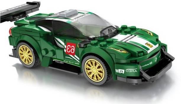 Little Joy 192 PCS Racing Car Model Block Set Construction Learning Toy for Kids