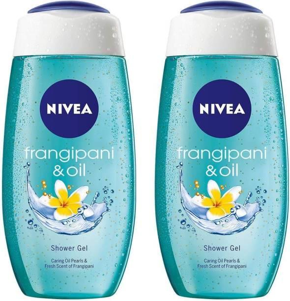 NIVEA Frangipani & Oil Pearls Scent of Frangipani Flower Shower Gel Pack of 2