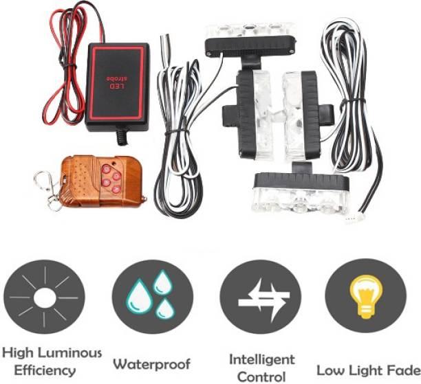 Miwings 4*3 LED Police Light 12V Car Motorcycle Flasher LED Flashlight Car Fancy Lights
