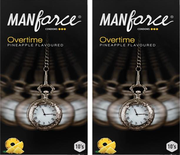 MANFORCE Overtime Pineapple 3in1 (Ribbed, Contour, Dotted) Condoms - 10s (Pack of 2) Condom