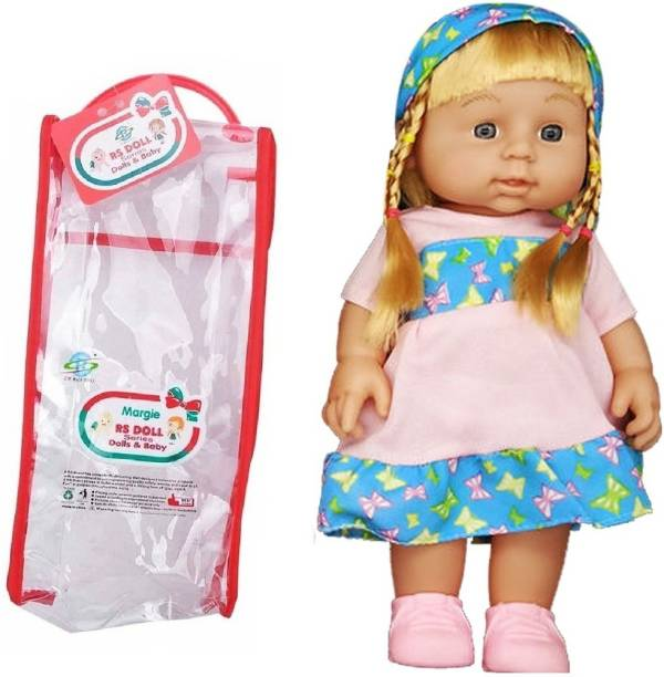 Little Joy 29 cm Battery Operated Cute Baby Doll Toy with Beautiful Hair and Speaking Sound