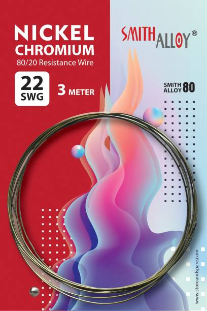 SmithAlloy 22 SWG Nichrome Wire - Heat Resistance Heating coil, Electric Resistance Wire Steel 3 m Wire