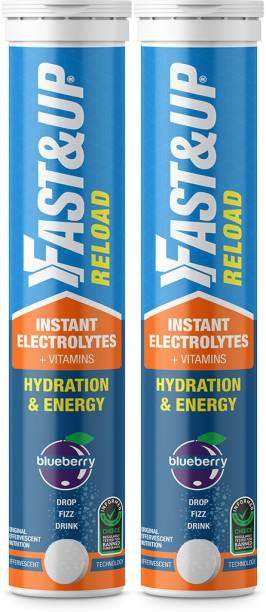 Fast&Up Reload Electrolytes For Hydration With Instant Energy Formula-Effervescent Tablets Hydration Drink
