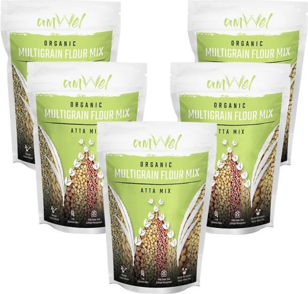Amwel Multigrain Flour Mix (Atta Mix) 1kg - Pack of Five [1kgx5 = 5kg]