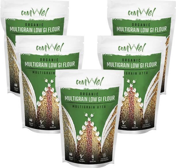 Amwel Multigrain Flour Low GI (Diabetic Atta) 1kg - Pack of Five [1kgx5 = 5kg]