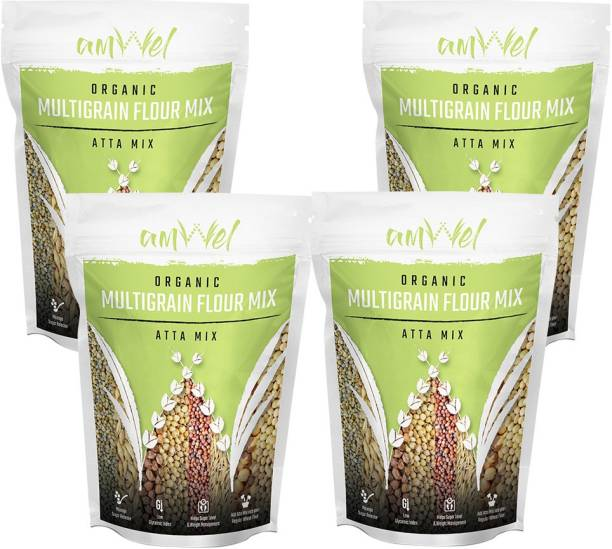 Amwel Multigrain Flour Mix (Atta Mix) 1kg - Pack of Four [1kgx4 = 4kg]