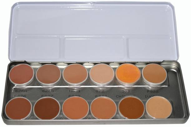 COLORS QUEEN Make-up Base Revitalizing Full Cover With Vitamin-E Kit Foundation