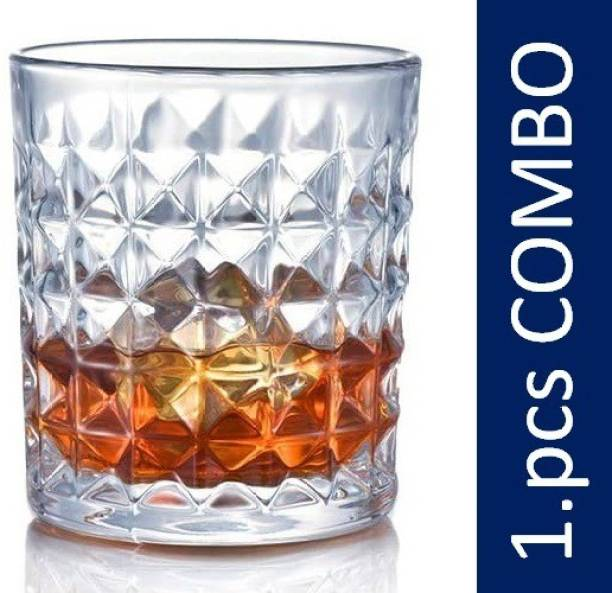 RERLY crystal diamond shape multipurpose heavy duty WHISKY DRINKING GLASS & SCOTCH KACH KA GLASS set with HEATPROOF & FOOD GRADE & LEAD FREE & CRYSTAL CLEAR drink ware material under WATER & COCKTAIL & JUICE & COLD DRINK & SODA & BEER under kitchen serve use Glass Set