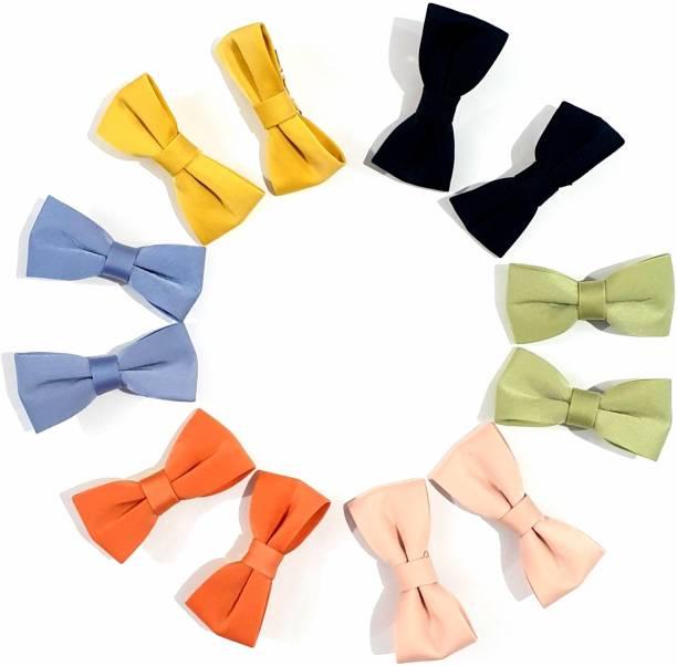 "Set of 2 /""Unicorn/"" yellow hair bow clips."