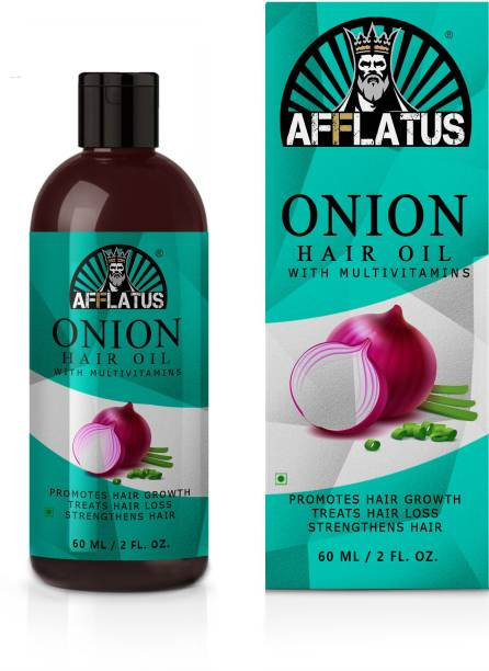 Afflatus Onion Hair Oil - Black Seed Onion Hair Oil - Controls Hair Fall - For All Hair Problem Solution - No Mineral Oil, Colour, SLS, PEG for Men & Women, Onion Hair Growth Oil With Blend Of Essential Oils For Promotes Hair Growth Hair Oil