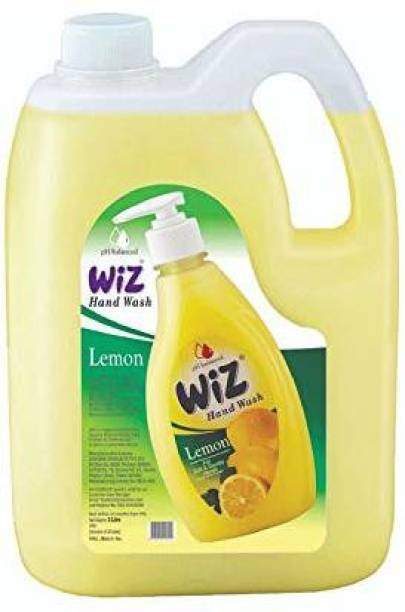 Wiz pH-Balance Extra Moisturizing Lemon Liquid Handwash, Give Complete Protection for Soft & Gentle Hands, Refill Pack Hand Wash Can