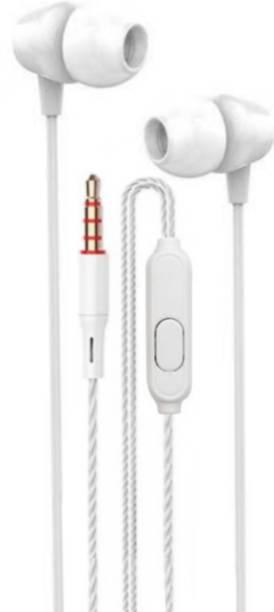 Meyaar Pluss-2208 in-Ear Earphones with High Bass & HD Sound with Mic Wired Headset