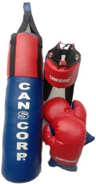 Canscorp Small Boxing kit set with Punching bag, head guard and 1 pair Boxing gloves. Boxing Kit