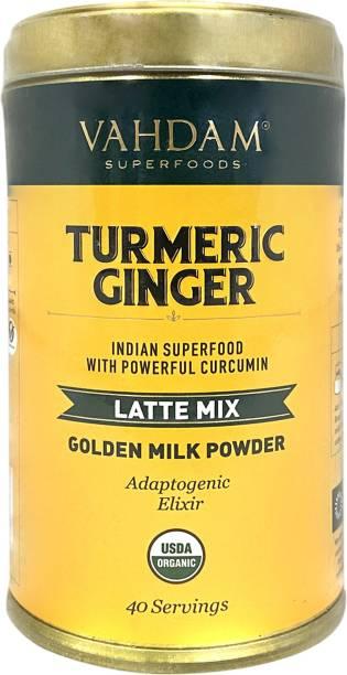 Vahdam Organic Turmeric Ginger Latte Golden Milk Flavored Milk Powder