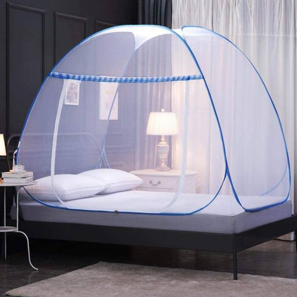 MouliK Polyester Adults Polyester Adults Pop-Up Foldable Mosquito Net Mosquito Net