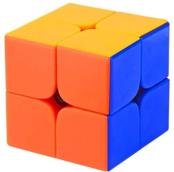 Little Joy 2x2 High Speed Stickerless Brainteaser Cube Puzzle Game Toy