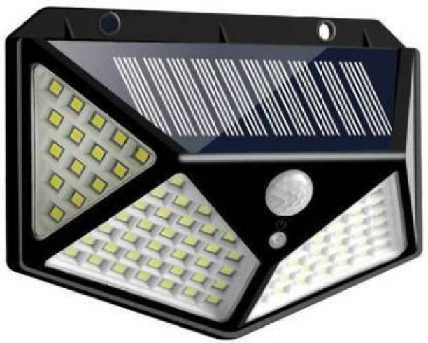 SHREE AMBE ENTERPRISE Premium quality 100 LED Solar Lights for Garden LED Security Lamp for Home, Outdoors Pathways Solar Light Set (Wall Mounted Pack of 1) Solar Light Set (Wall Mounted) Solar Light Set