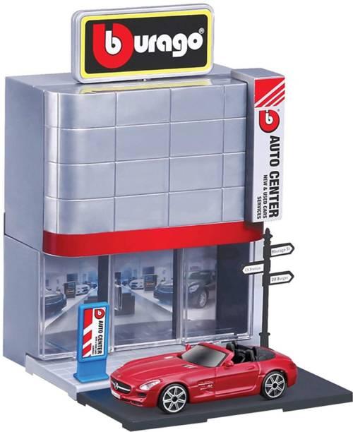 Bburago 1: 43 Scale Street Fire Car Dealer Playset