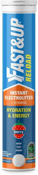 Fast&Up Reload (Electrolytes) for Energy & Hydration Sports Drink, Berry, 20 Tablets Hydration Drink