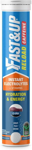 Fast&Up Reload Caffeine Electrolytes For Hydration-Instant Energy Formula Effervescent Tab Hydration Drink