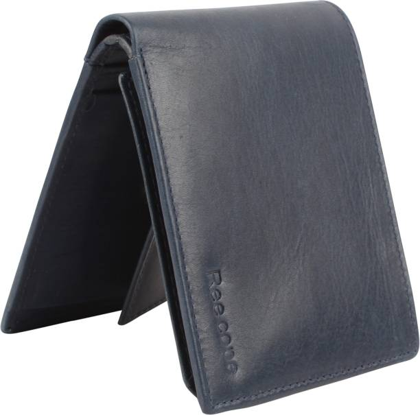 ree cope Men Casual, Trendy Blue Genuine Leather Wallet