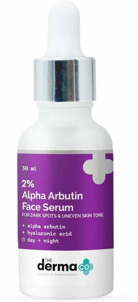 The Derma Co 2% Alpha Arbutin Face Serum for Dark Spots & Uneven Skin Tone