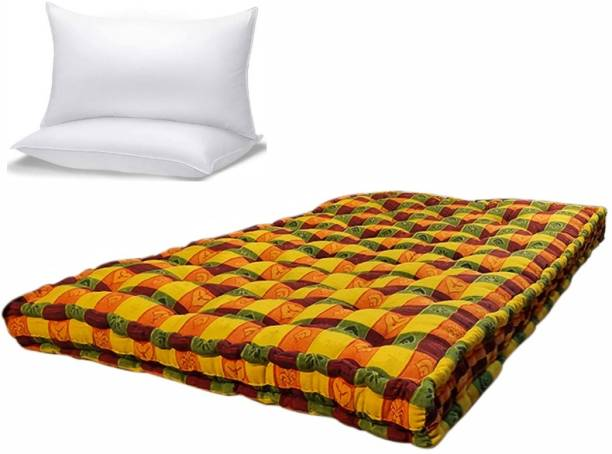 Anand Textile 4X6 5 Inch With Pillow 5 inch Double Cotton Mattress