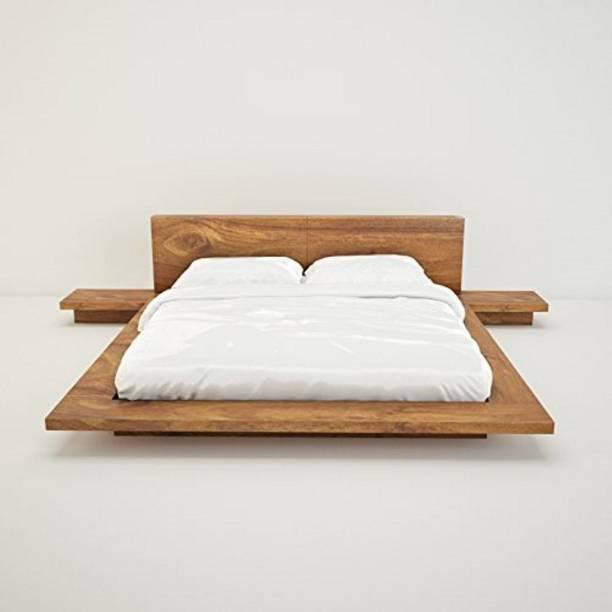 FURINNO Solid Wood Queen Bed