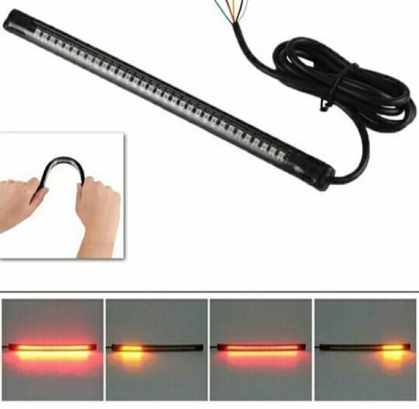 Miwings Motorcycle Flexible Bendable LED Strip Tail Light Turn Signal Brake Indicator Car Fancy Lights