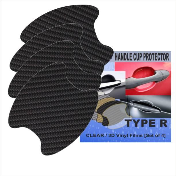 Tufkote Car Door Handle Protection Film - Type R - 3D Carbon BLACK Matte Universal For Car Universal For Car Side Garnish