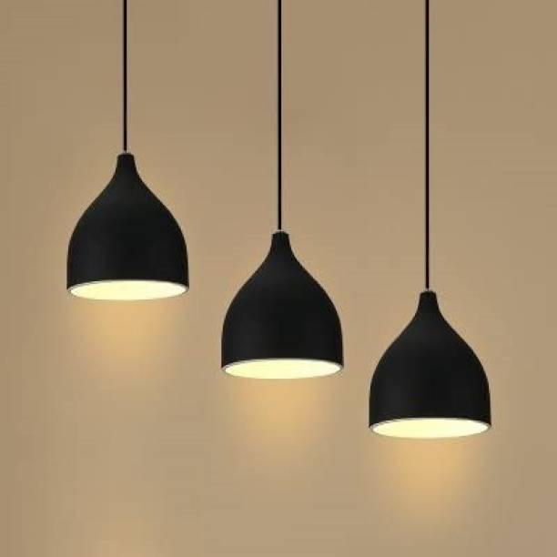 Brightlyt Single Head Vintage Black aluminum Hanging Light Industrial Retro Country , Dining Hall Restaurant Bar Café Lighting (Pack of 3 Pcs) Pendants Ceiling Lamp