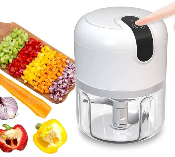 Hunk shopper's Electric Mini Chopper Food Processor, Cordless Garlic Press Chopper, Portable Small Food Processor for Vegetable/Salad/Meat/Nut/Onions Electric Vegetable & Fruit Chopper