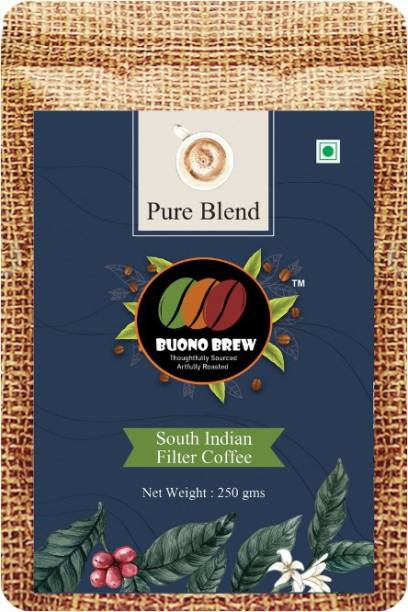 buonobrew South Indian Filter Coffee Beans - Pure Blend (100% Arabica, 0% Chicory) Filter Coffee
