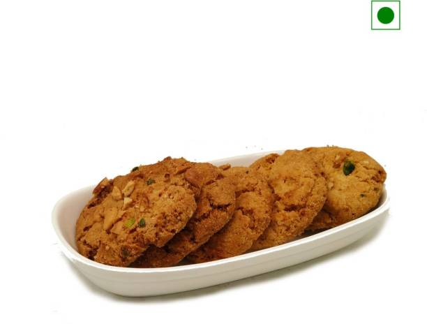 Biskutwala Old Delhi's Special Eggless Jumbo Nutty Buddy Almond Cashew Pista Biscuits Cookies