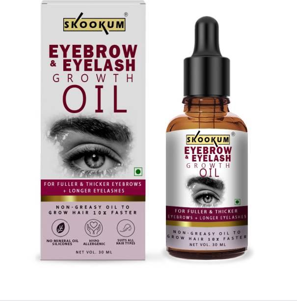 SKOOKUM Advanced Eyebrow & Eyelash Growth Oil , Castor Oil, Eyebrow Growth Oil, Easy To Getting Drakness Of Eyebrow & Eyelash 30 ml
