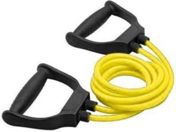 EMMKITZ Double Resistance Band   6 Body Parts of Muscles to (YELLOW) Resistance Band