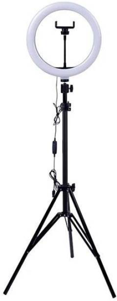 Wrapo Foldable Tripod with Remote, Dimmable 3-Modes LED Ring Light with Tabletop Stand with Ball-Head for Making up, Tiktok Videos Tripod Kit